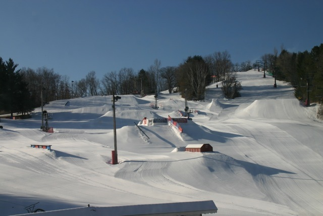 The terrain park at Tyrol Basin.