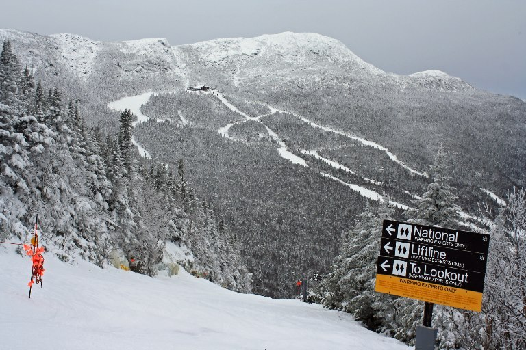 Although natural snow hasn't been overly abundant as of late, places like Stowe have been doing quite well, and are even opening up natural snow only terrain.