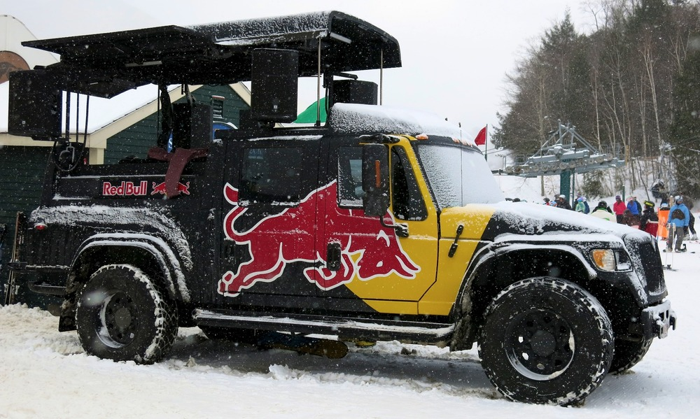 Red Bull provided the tunes at Loon Mountain.