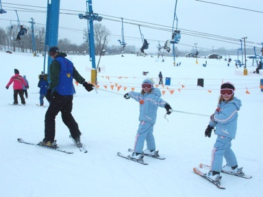 Skiers and snowboarders ages five to 12 can take advantage of special beginner pricing for lift ticket, rental and lesson. - ©Timber Ridge
