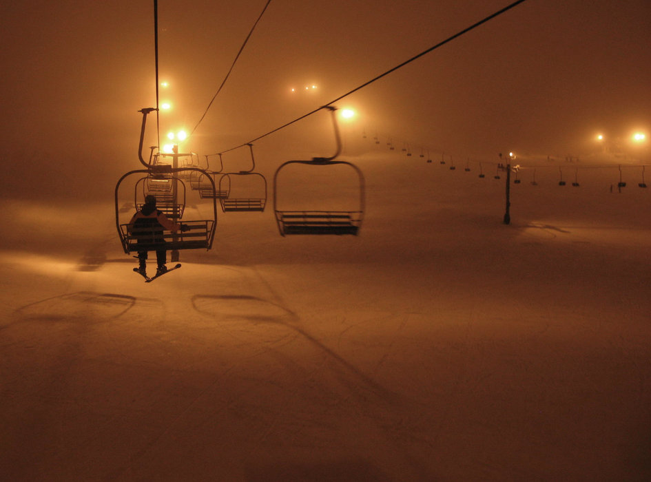 Night skiing at the Summit at Snoqualmie. Photo by Sergio Bonachela/Flickr.