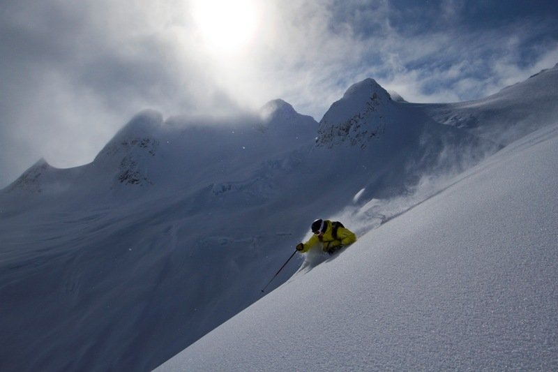 Steep and deep at Northern Escape Heli-Skiing.