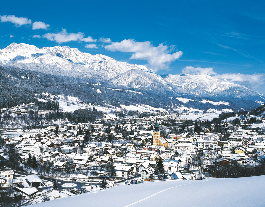 Schladming from the slopes, Austria