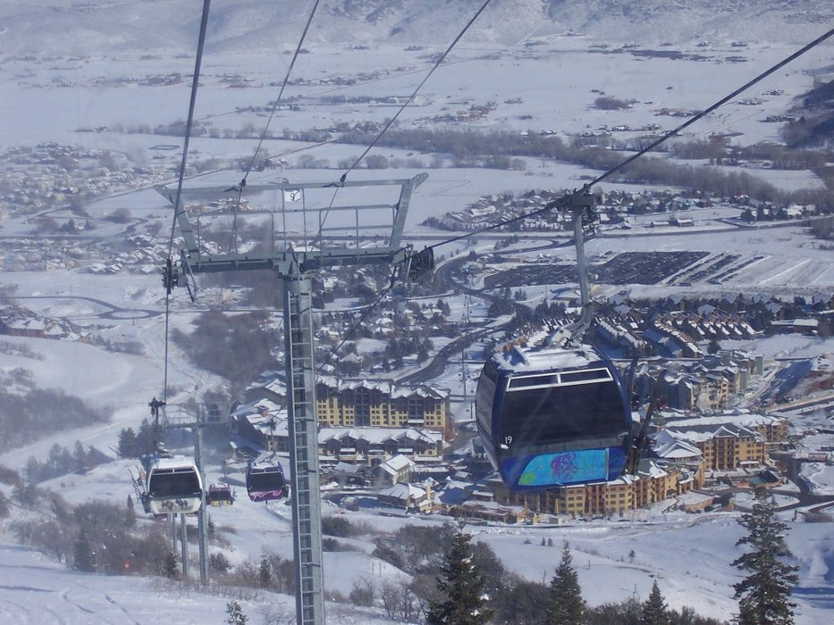 Park City, Utah and the Canyons as seen by gondola tram.