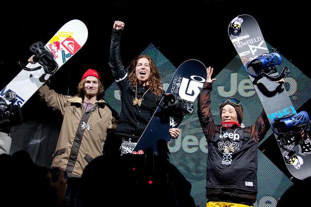 Snowboarding Superpipe podium. - ©Sasha Coben
