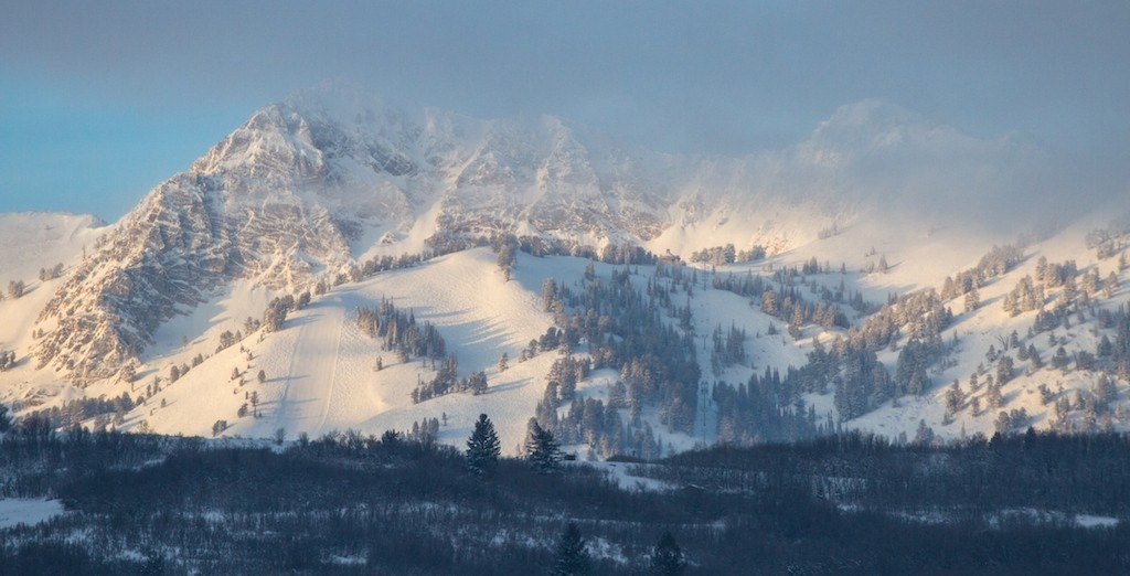 Early morning clouds hang over Snowbasin Resort, located 33 miles from Salt Lake City. The resort, which opened in 1939, is recently best known for hosting the downhill during the 2002 Winter Olympic Games.