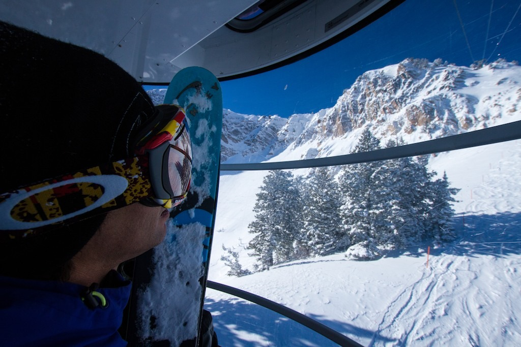 Carlo Travarelli in the Mt. Allen Tram. - ©Liam Doran