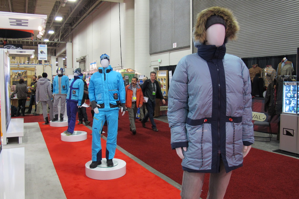 Helly Hansen is known for making sharp-looking, warm and breathable shells. They had them on display inside-out at OR to show the technology that keeps their jackets warmer, lighter & cooler.