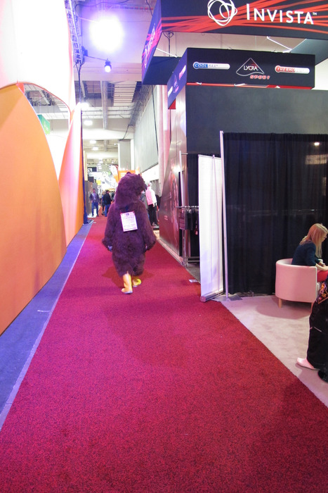 You never know what you'll see on the trade show floor at Winter OR. This bear just happened to be roaming the show.