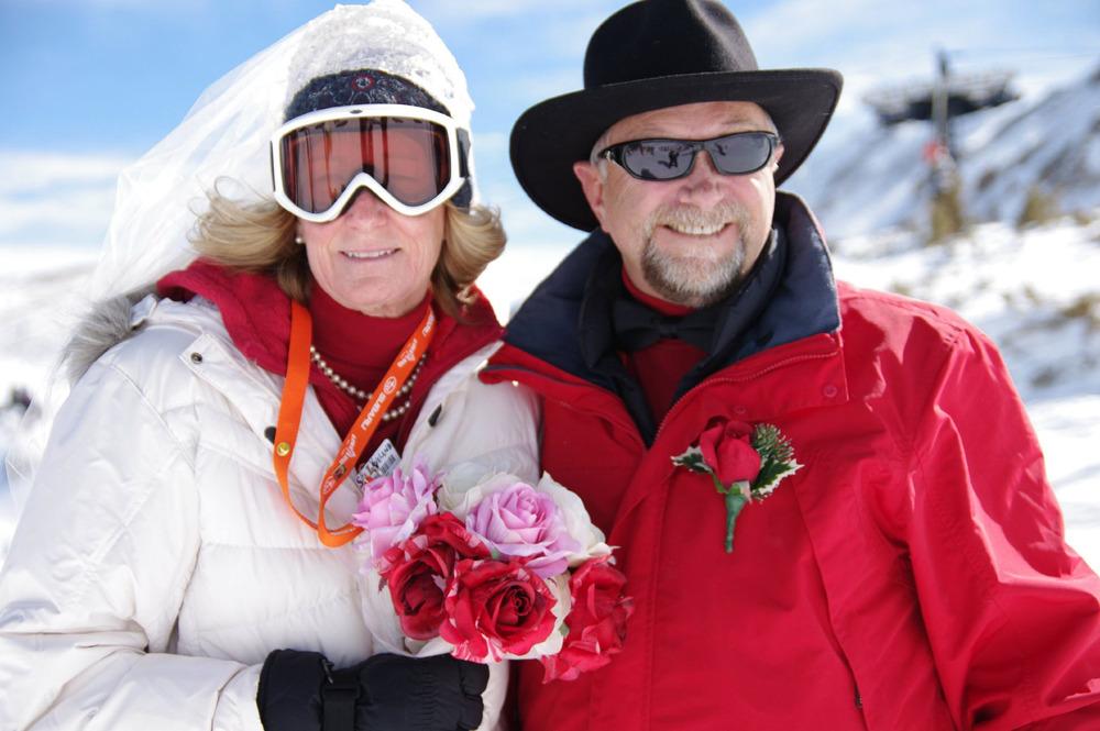 Participate in Loveland's mass wedding on Valentine's Day.