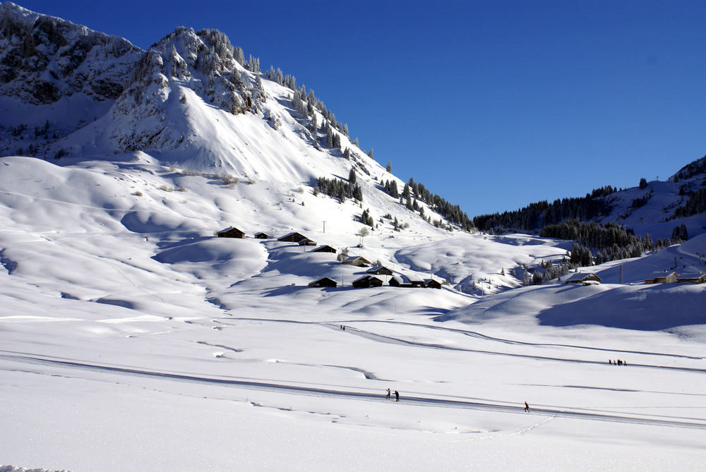 Cross country skiing at Sommand
