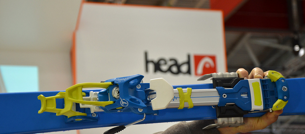 HEAD's new touring ski binding, held by Hermann Maier