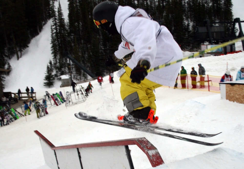 Red Lodge Mountain Winter Carnival includes a rail jam. Photo courtesy of Red Lodge Mountain.