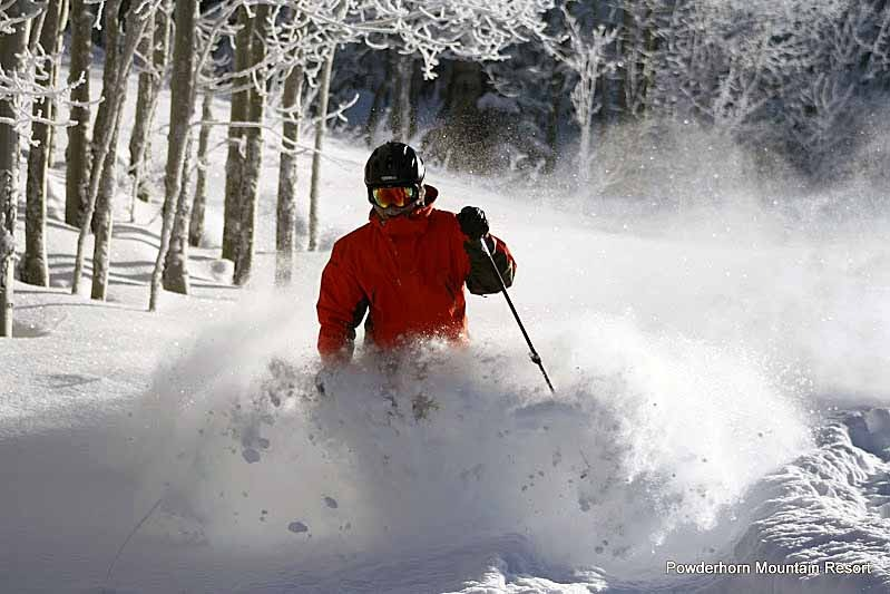 Great skiing at Powderhorn. - ©D. Anderson