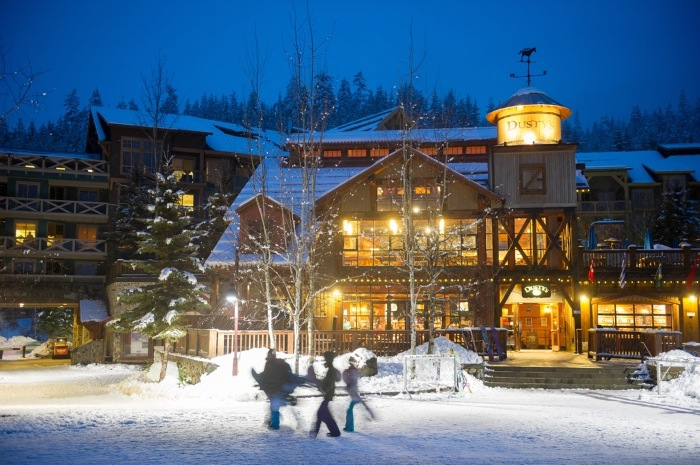 Whistler Blackcomb: Dusty's at Creekside.   Photo by Mike Crane, courtesy of Whistler Tourism.