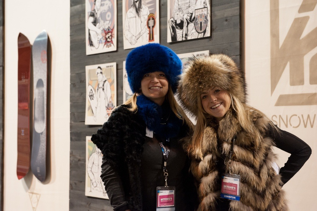 Some of the women of SIA, faux-fur and all.
