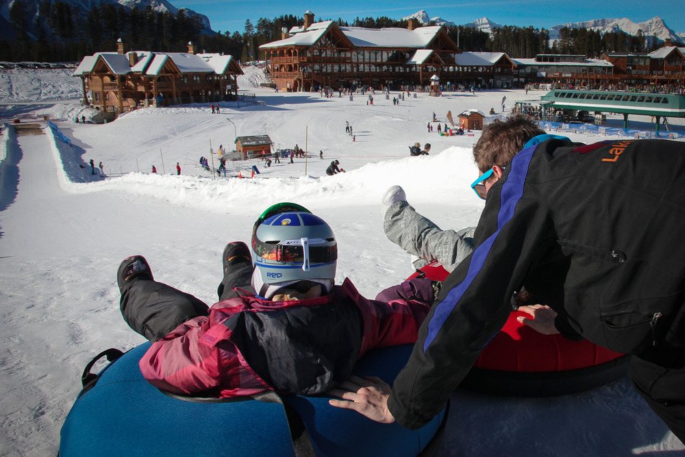 New tubing hill at Lake Louise. Photo courtesy of Lake Louise Ski Area.
