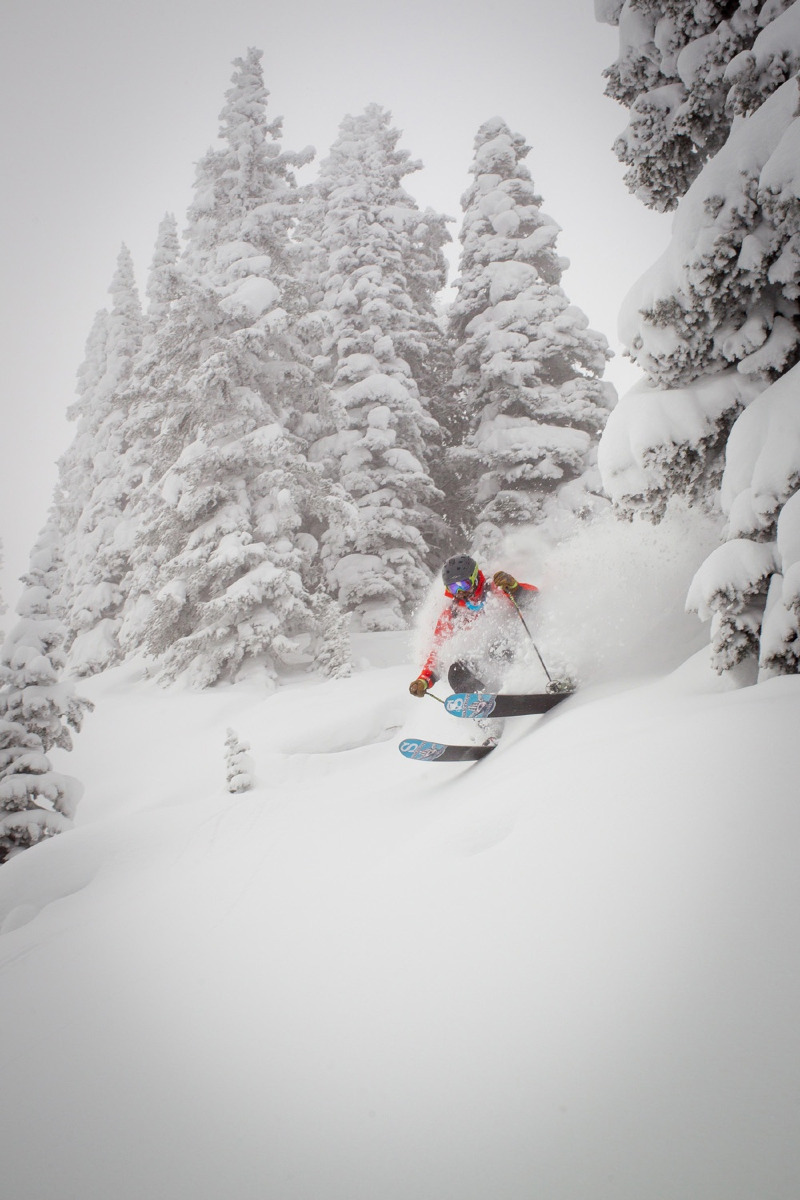 It's not uncommon to find powder while skiing at Vail. Depending on the day head to the trees for fresh stashes even a few days old. - ©Jeff Cricco