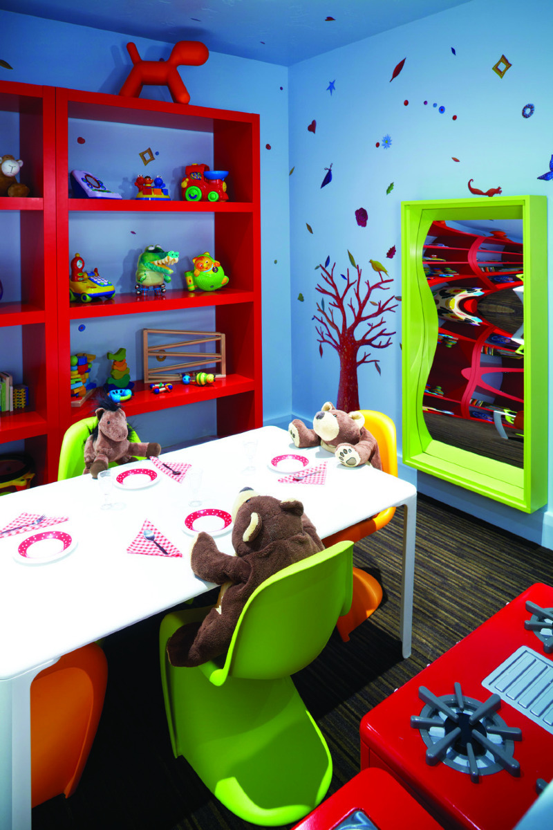 The tykes playroom at the Dancing Bear development in Aspen, Colorado. - ©Dancing Bear