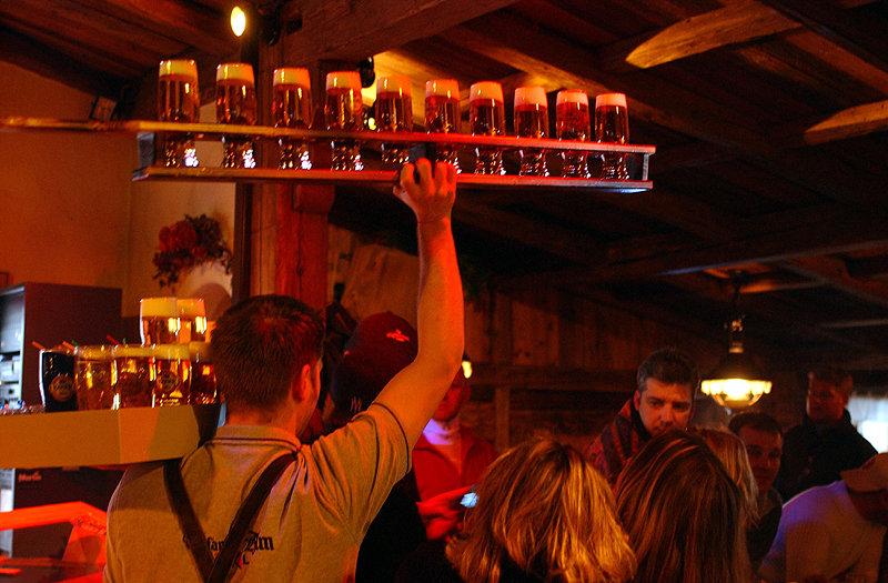 Beer o'clock at the Trofana Alm in Iscghl, Austria - ©Trofana Alm
