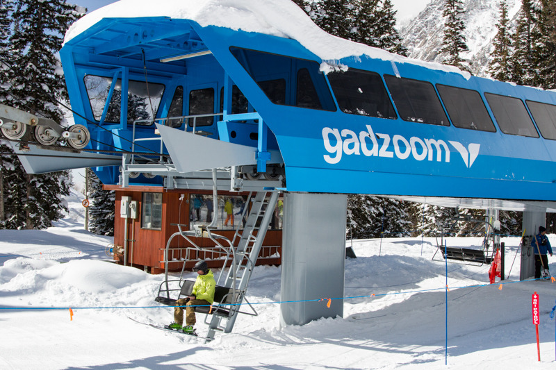 Testers road the Gadzoom lift throughout the day.