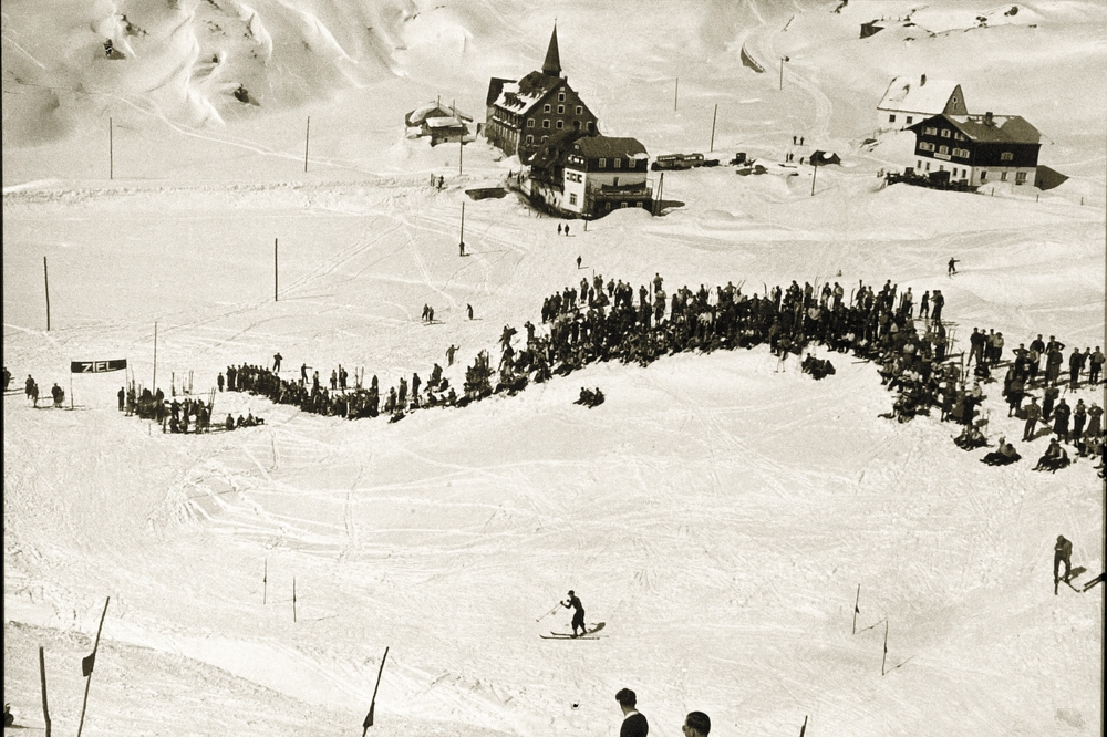 Legendary Kandahar Slalom Race in St. Christoph in 1934.