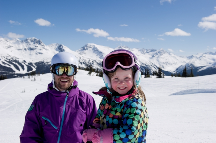Family fun on Whistler Mountain. Photo by Mike Crane, courtesy of Tourism Whistler.