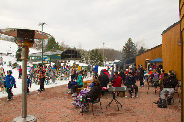 Bittersweet's new heated patio. - ©Bittersweet Ski Area