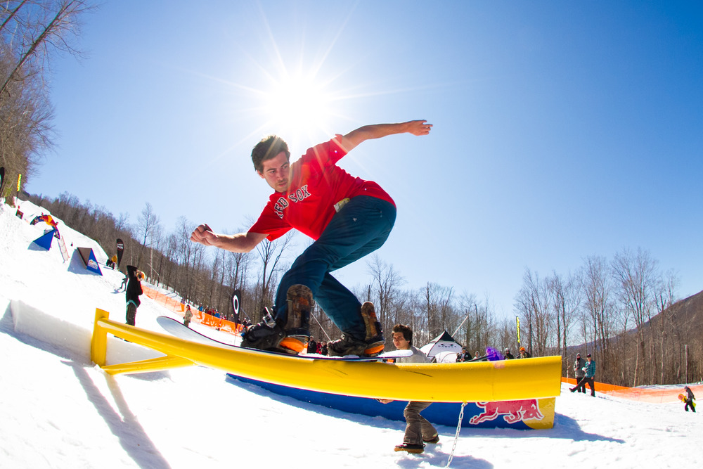 The Terrain Parks at Loon Mountain are prime in the spring.