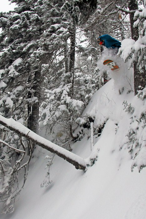 All the new snow makes for some soft landings at Sugarloaf.