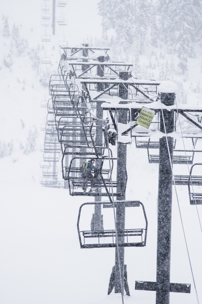 Lots of snow, not a lot of people at Mt. Baker. - ©Liam Doran