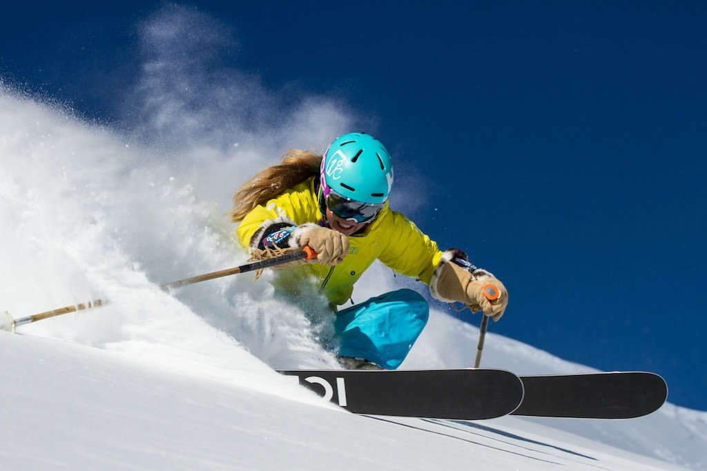 Kaylin Richardson tears it up at Canyons in Park City, Utah. - ©Liam Doran