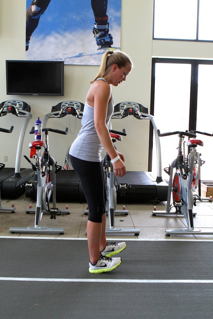 Grete Eliassen demonstrates how to do Heel Walks.
