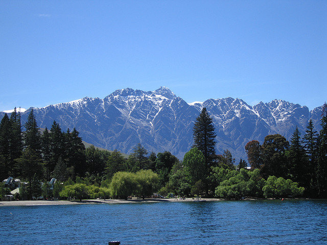 The Remarkables dominate the Queenstown skyline