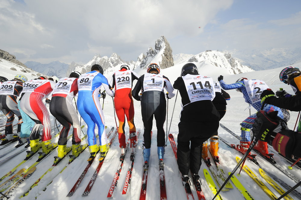 White Thrill race: before the mass start at Arlberg's Valluga crest. - ©TVB St. Anton am Arlberg / Fotograf Josef Mallaun