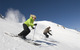 Two skiers find powder in Mammoth Mountain, California
