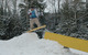 A snowboarder hits a rail in the terrain park in Ski Brule, Michigan