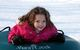 Young girl tubing at Shanty Creek, Michigan