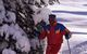 A skier enjoys fresh powder at Ordino-Arcalis, Andorra