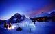 Gstaad igloo at night.