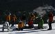 A group of kids learn to snowboard at Winter Park Resort, Colorado