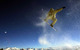 Freestyle snowboarder at Pizol snowpark