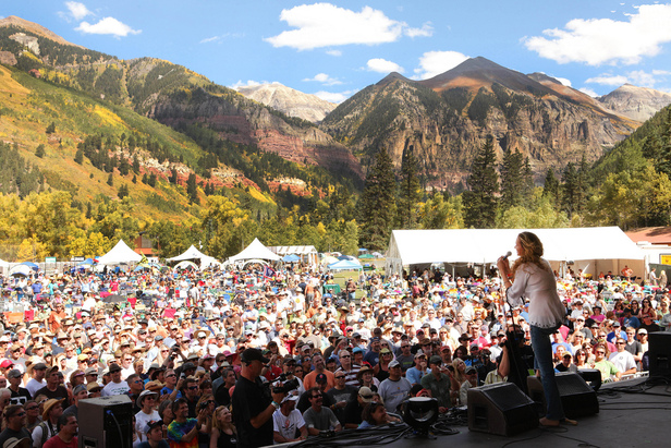 Of all of the festival settings in the world, Telluride Town Park boasts one of the most beautiful backdrops for the Telluride Blues & Brews Festival.
