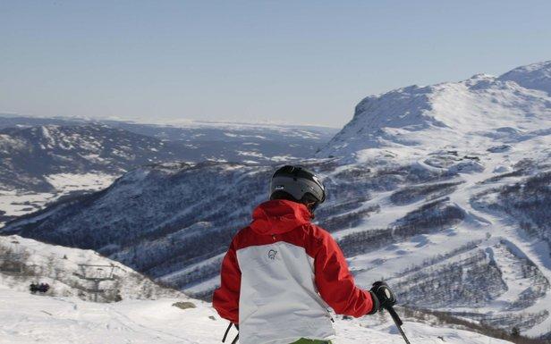 Hemsedal, Norway skiers