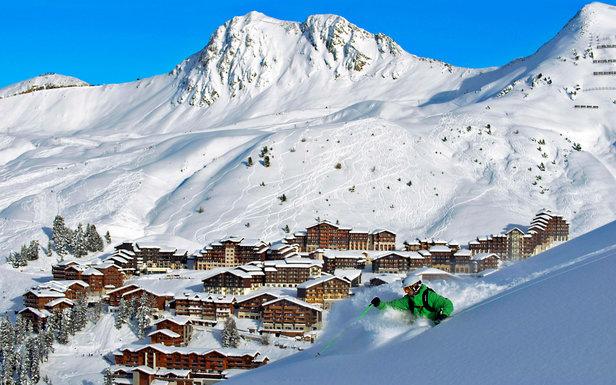 Ski hors piste à la Plagne - ©P. Royer / OT la Plagne