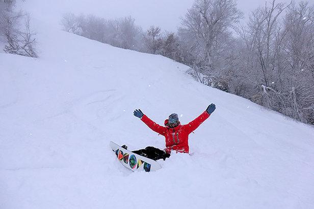 Praise Ullr! North Carolina's got plenty of powder. - ©Sugar Mountain