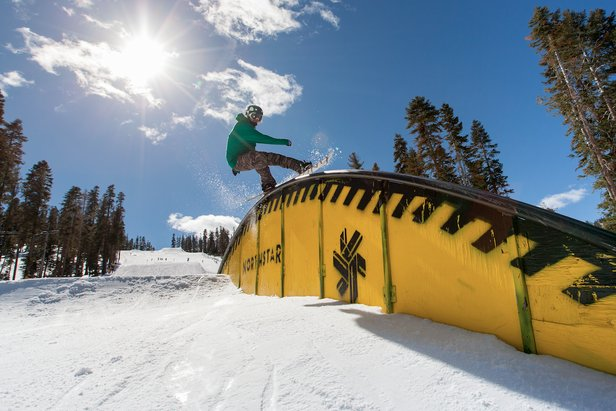 Northstar team rider, Danny Toumarkine, showing some style on top of the tear drop rail.