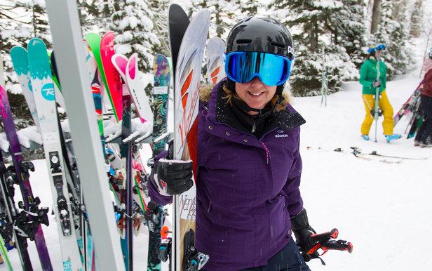 Při testování lyží prostě vezmete nejbližší lyže a jedete. A hodnotíte. - ©Cody Downard Photography