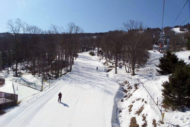 Spring skiing at Camelback Mountain Resort. - ©Camelback Mountain Resort