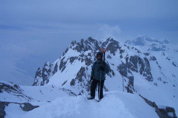 Standing on The Valluga, St. Anton